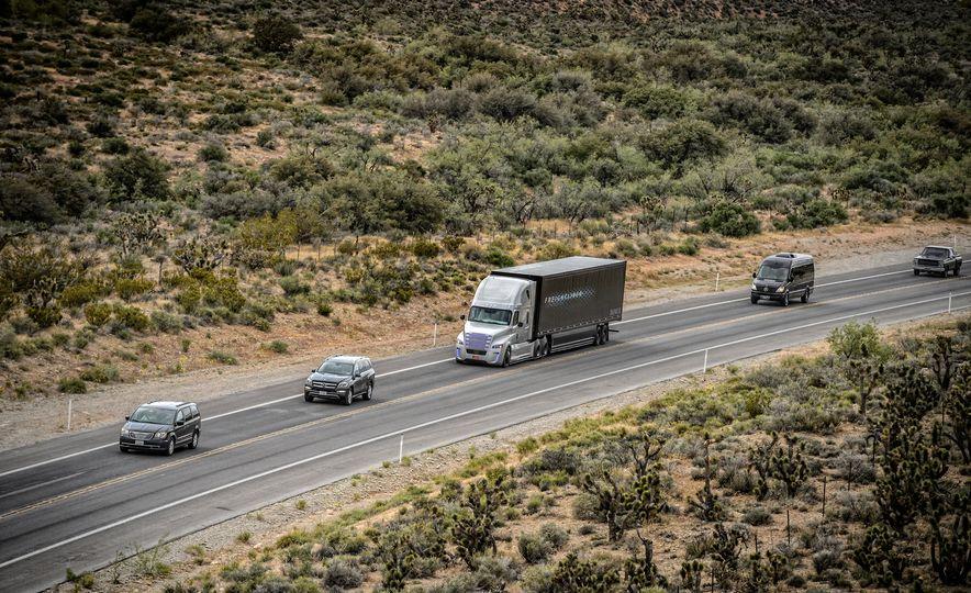 Freightliner Inspiration autonomous semi truck - Slide 1