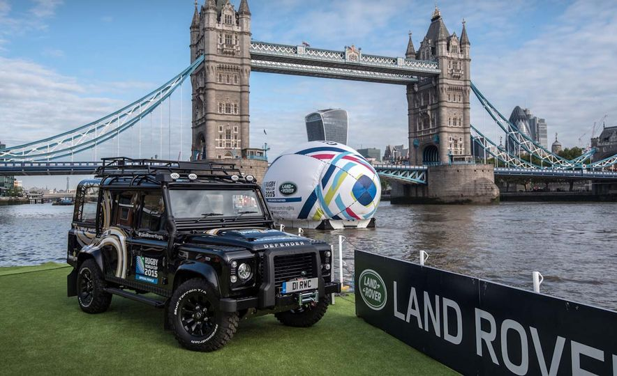 Land Rover Defender to Carry the Rugby World Cup Trophy - Slide 1