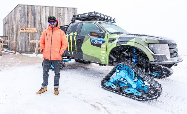 Riding Shotgun with Ken Block in the Ford F-150 RaptorTRAX [w/ Video]