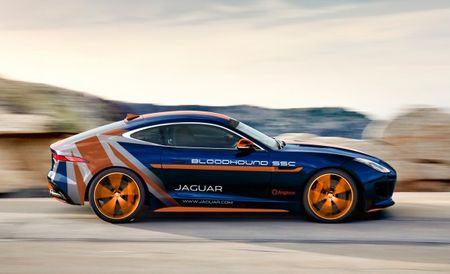 This Jaguar F-Type Is the Bloodhound SSC's Pit Car