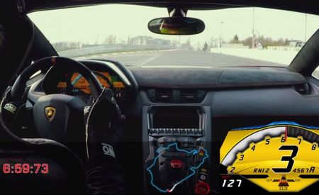 Watch the Lamborghini Aventador SV Break 7 Minutes at the 'Ring