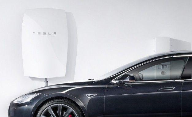 Tesla wall mount battery