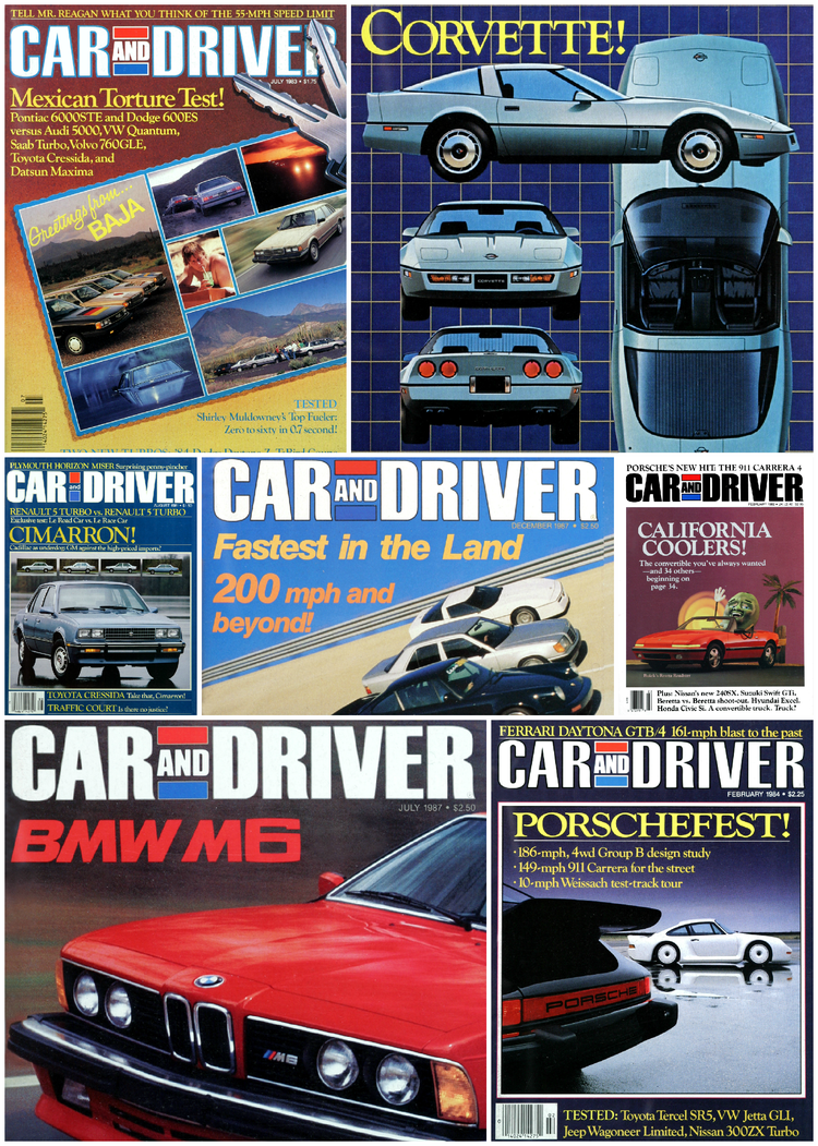 Like, Totally Rad: The Car and Driver Covers of the 1980s