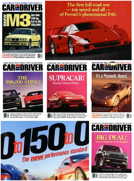 Formula C/D: The Car and Driver Covers of the 1990s