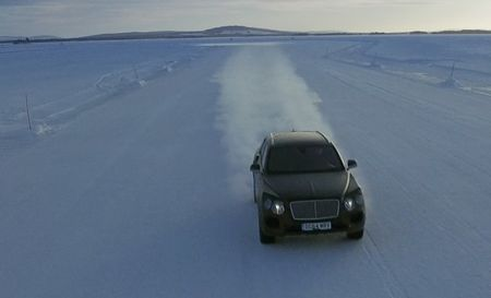 Watch the Bentley Bentayga SUV Barrel Through Snowy Sweden in New Video