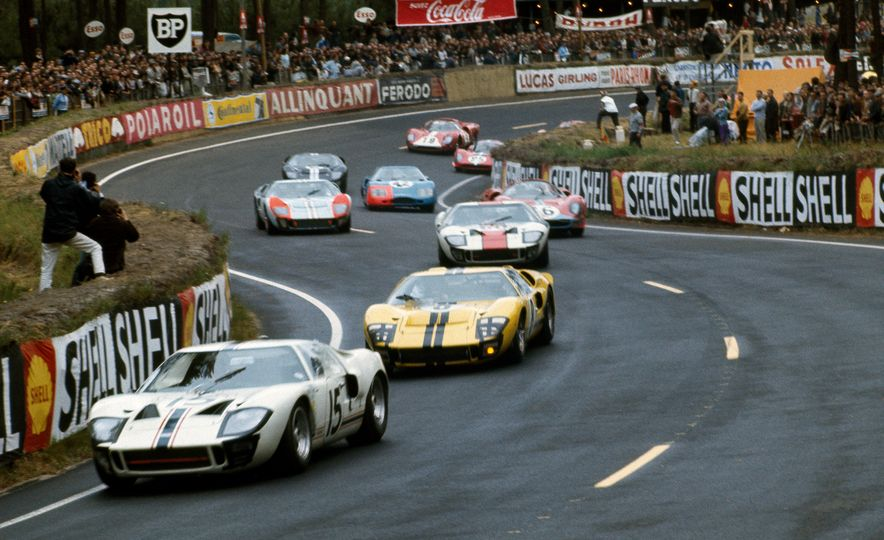 Three Ford GT40's through the Esses - Slide 1