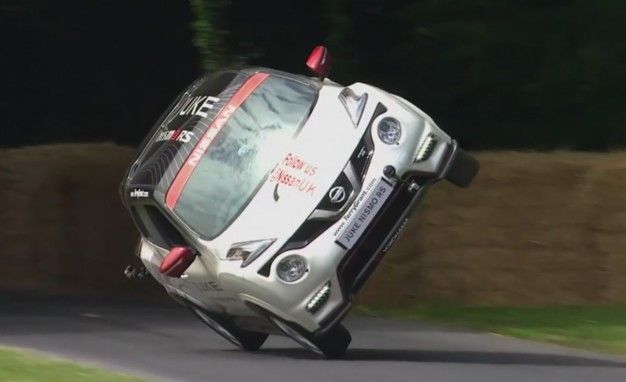 Nissan Juke on Two Wheels: The Slowest, Most Incredible Goodwood Record Ever [Updated with Onboard Video]