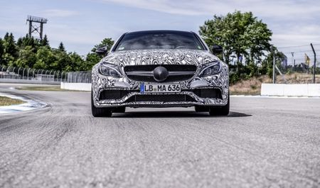 2017 Mercedes-AMG C63 Coupe Captured During Final Testing