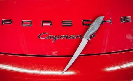 Knife Cuts to the Chase, Stabs Our Long-Term Porsche Cayman S's Floorboard