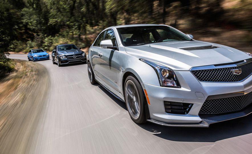 2015 Mercedes-AMG C63 S-Model, 2015 BMW M3, and 2016 Cadillac ATS-V - Slide 2