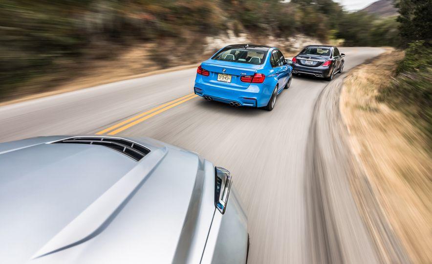 2015 Mercedes-AMG C63 S-Model, 2015 BMW M3, and 2016 Cadillac ATS-V - Slide 4