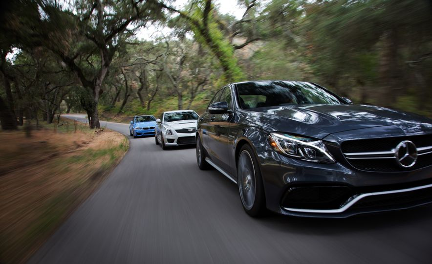 2015 Mercedes-AMG C63 S-Model, 2015 BMW M3, and 2016 Cadillac ATS-V - Slide 5