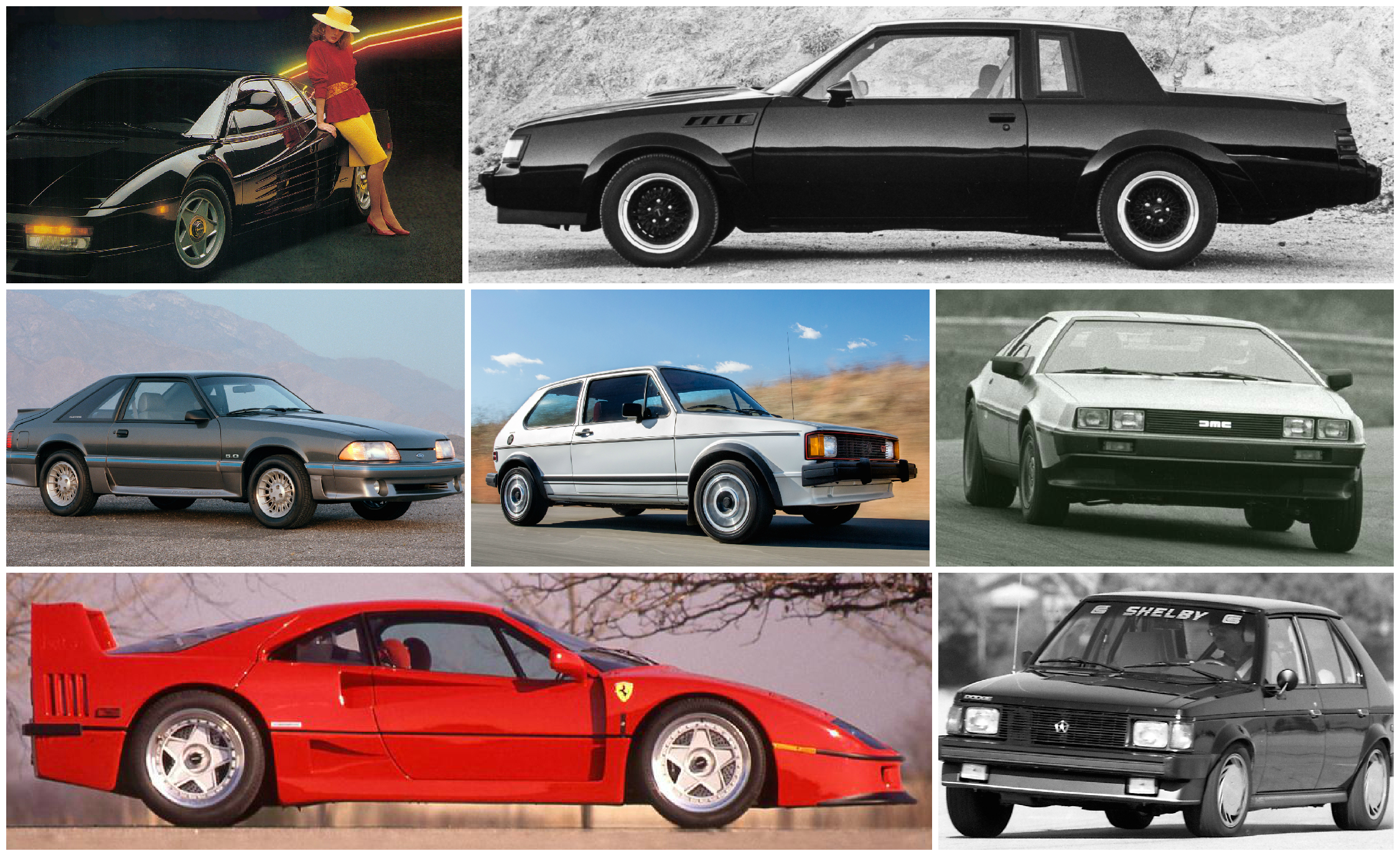 Awesome to the Max: C/D's Coolest Cars of the 1980s