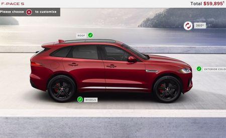 Effin' Quick Pace: 2017 Jaguar F-Pace Full Online Configurator Already Live