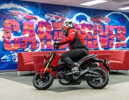 We Test Honda's New Grom Minibike—Including in Our Office
