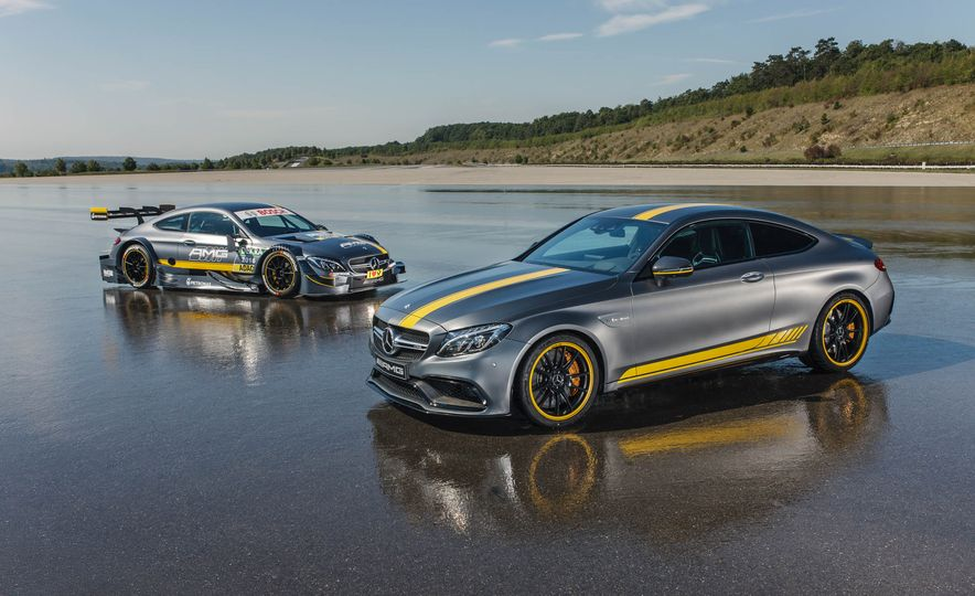 2017 Mercedes-AMG C63 DTM race car and Mercedes-AMG C63 coupe - Slide 1