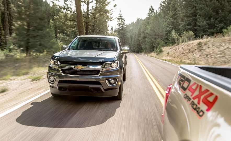2015 Chevrolet Colorado LT 4WD and 2016 Toyota Tacoma TRD Off-Road 4x4 - Slide 8