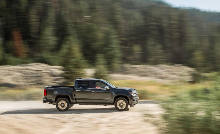 2015 Chevrolet Colorado LT 4WD and 2016 Toyota Tacoma TRD Off-Road 4x4 - Slide 10
