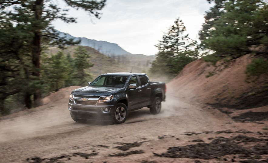 2015 Chevrolet Colorado LT 4WD and 2016 Toyota Tacoma TRD Off-Road 4x4 - Slide 11