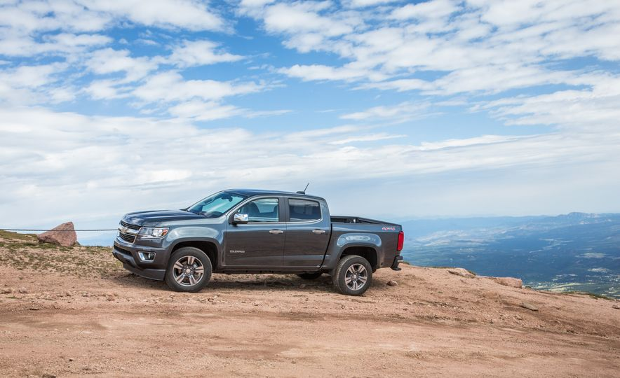 2015 Chevrolet Colorado LT 4WD and 2016 Toyota Tacoma TRD Off-Road 4x4 - Slide 13