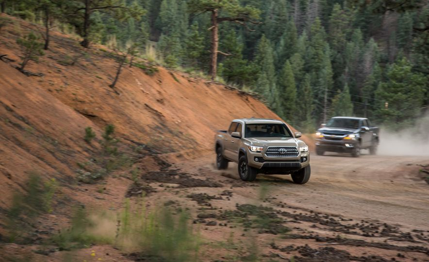2015 Chevrolet Colorado LT 4WD and 2016 Toyota Tacoma TRD Off-Road 4x4 - Slide 2