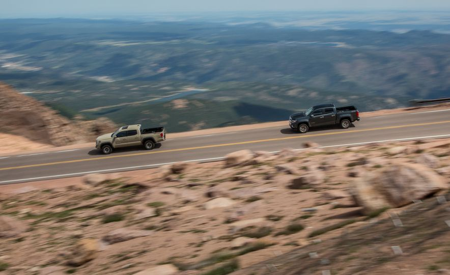2015 Chevrolet Colorado LT 4WD and 2016 Toyota Tacoma TRD Off-Road 4x4 - Slide 4