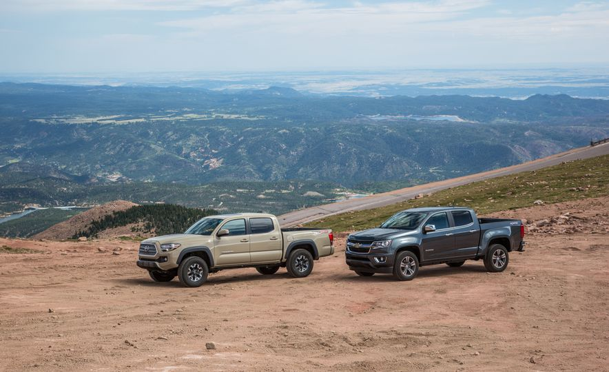 2015 Chevrolet Colorado LT 4WD and 2016 Toyota Tacoma TRD Off-Road 4x4 - Slide 6