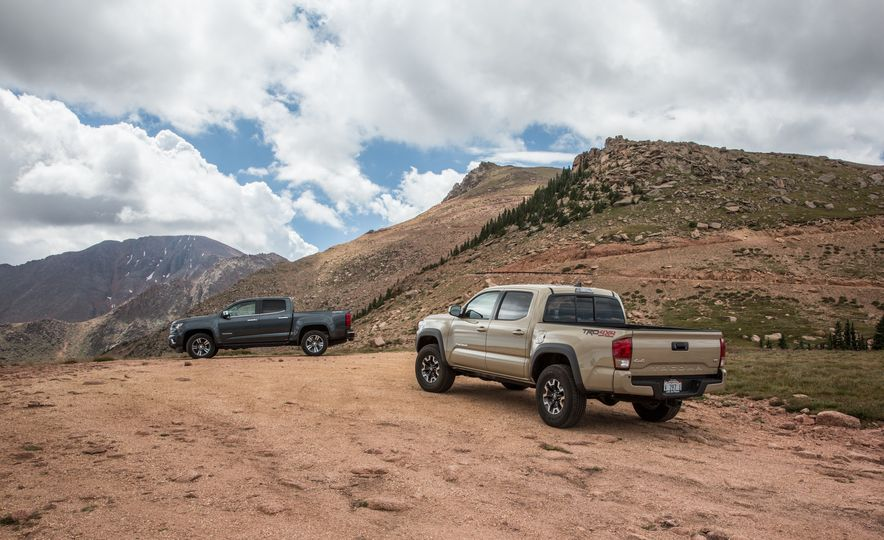 2015 Chevrolet Colorado LT 4WD and 2016 Toyota Tacoma TRD Off-Road 4x4 - Slide 7