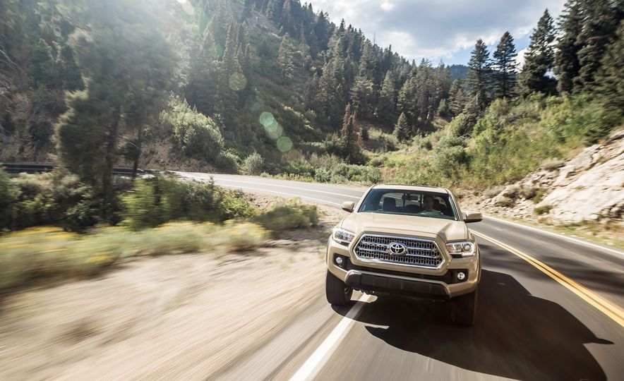 2015 Chevrolet Colorado LT 4WD and 2016 Toyota Tacoma TRD Off-Road 4x4 - Slide 28