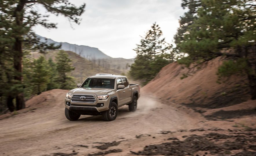 2015 Chevrolet Colorado LT 4WD and 2016 Toyota Tacoma TRD Off-Road 4x4 - Slide 30
