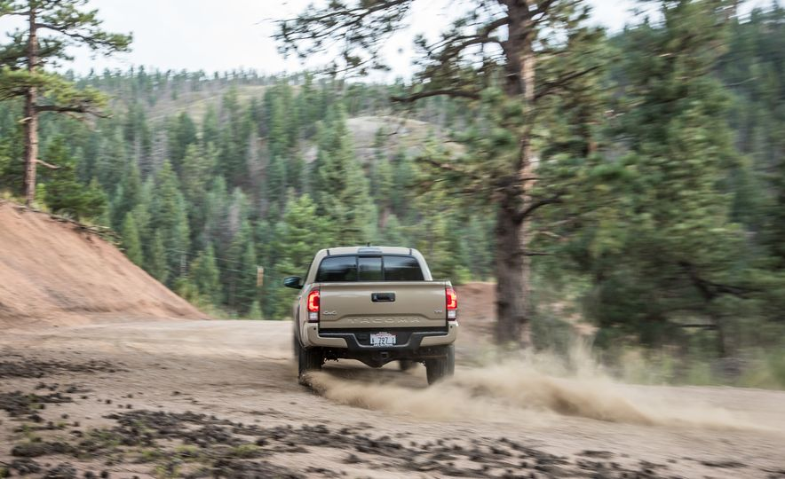 2015 Chevrolet Colorado LT 4WD and 2016 Toyota Tacoma TRD Off-Road 4x4 - Slide 32