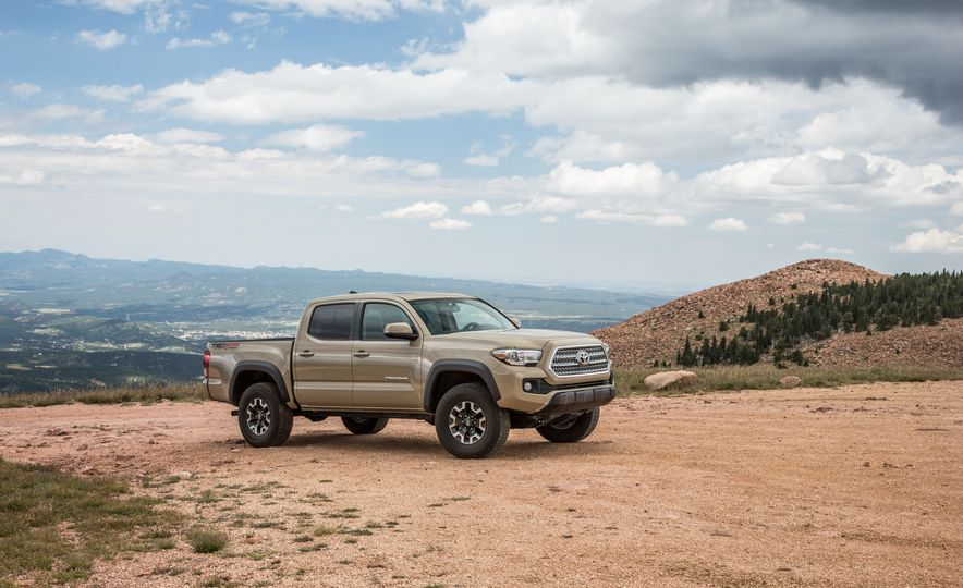 2015 Chevrolet Colorado LT 4WD and 2016 Toyota Tacoma TRD Off-Road 4x4 - Slide 35