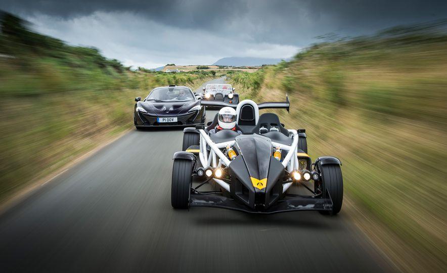 Britain's Most Brutish: Ariel Atom 3.5R, McLaren P1, and Morgan Plus 8 - Slide 1