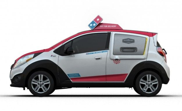 You Can Avoid the Noid, But You Can't Flee the DXP: Domino's Unveils New Chevy Spark–Based Delivery Vehicle