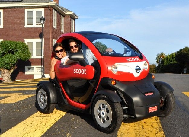 In a Twizy! Nissan Renting Electric Renault Twizy in San Francisco