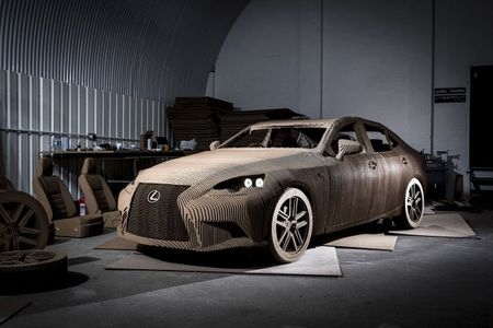 Out of the Box: Lexus Creates Full-Size, Drivable Cardboard IS Sedan [w/ Video]