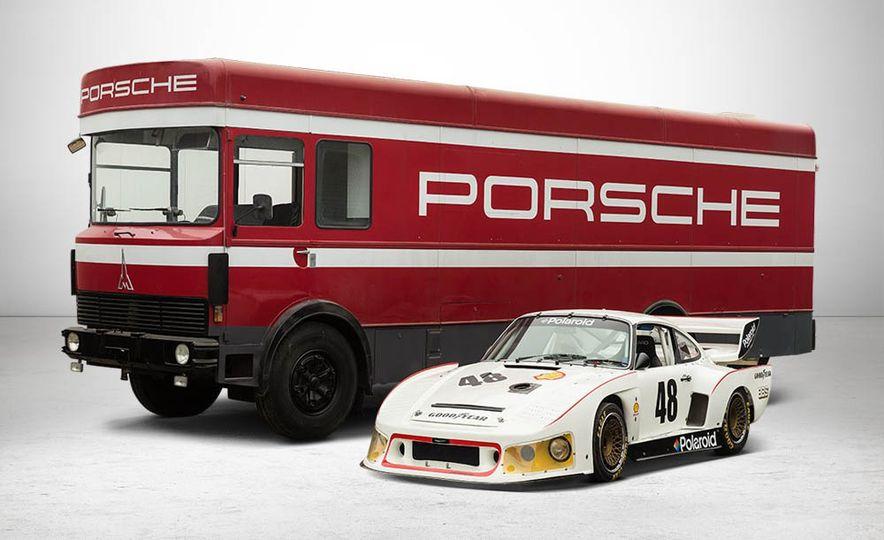 1977 Porsche 935 race car and Magirus transport truck - Slide 1