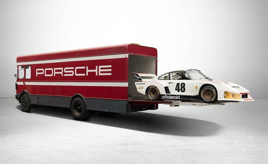 1977 Porsche 935 race car and Magirus transport truck - Slide 2