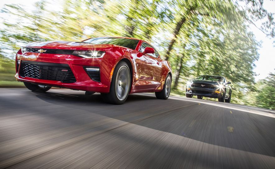 2016 Chevrolet Camaro SS and 2015 Ford Mustang GT - Slide 1