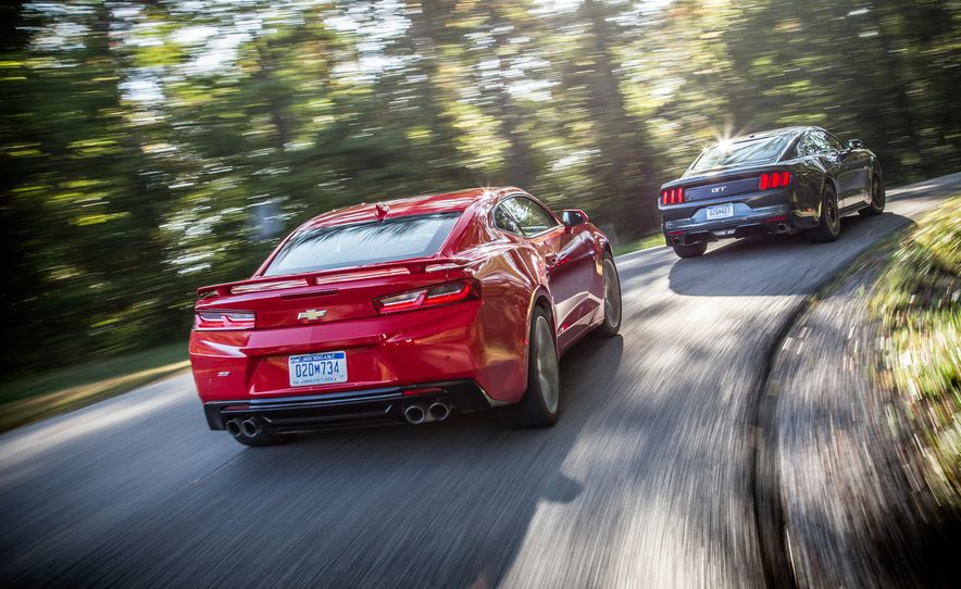 2016 Chevrolet Camaro SS and 2015 Ford Mustang GT - Slide 2