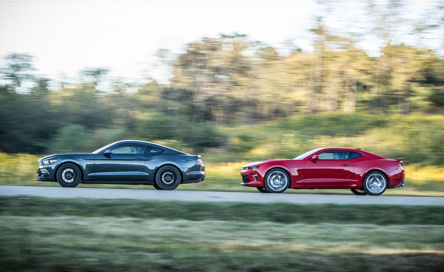 2016 Chevrolet Camaro SS and 2015 Ford Mustang GT - Slide 5