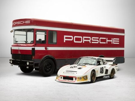This Classic Porsche Race Car and Matching Hauler Make the Cutest Pair