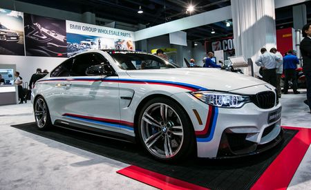 From Bavaria to America! BMW Brings Stripey M4, M2 Parts to SEMA