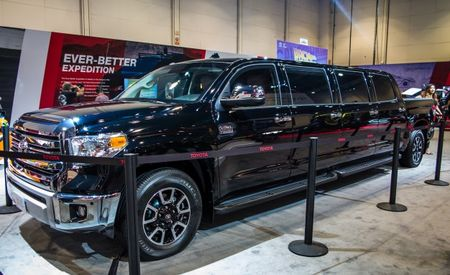 "The Toyota ""Tundrasine"" Limo Pickup Is 26 Feet Long, Has 8 Doors"