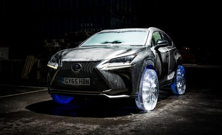 So Chill: Lexus Gives the NX Wheels Made of Ice
