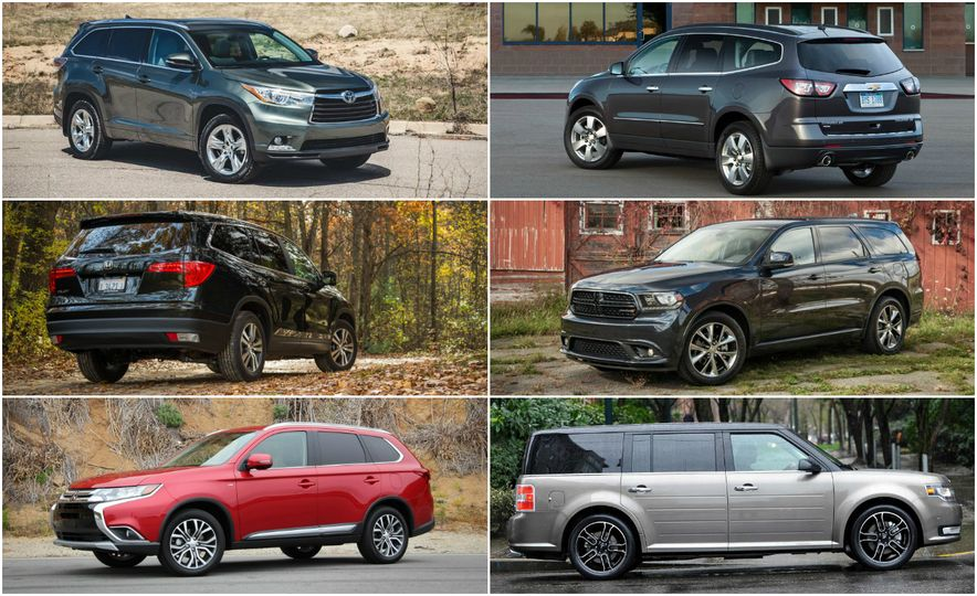 Triplicate ThreeRow MidSize Crossovers and SUVs Ranked from