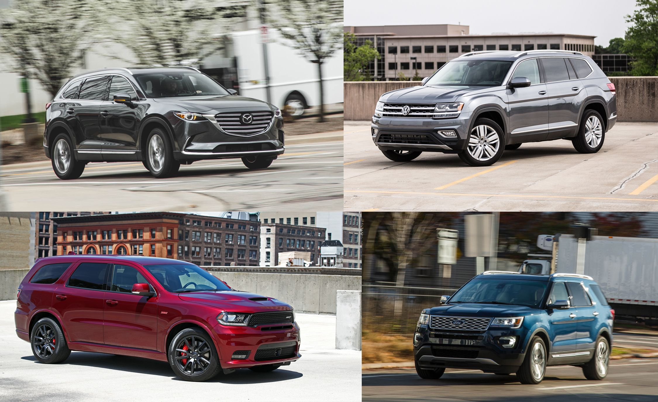Triplicate Three Row Mid Size Crossovers and SUVs Ranked from Worst