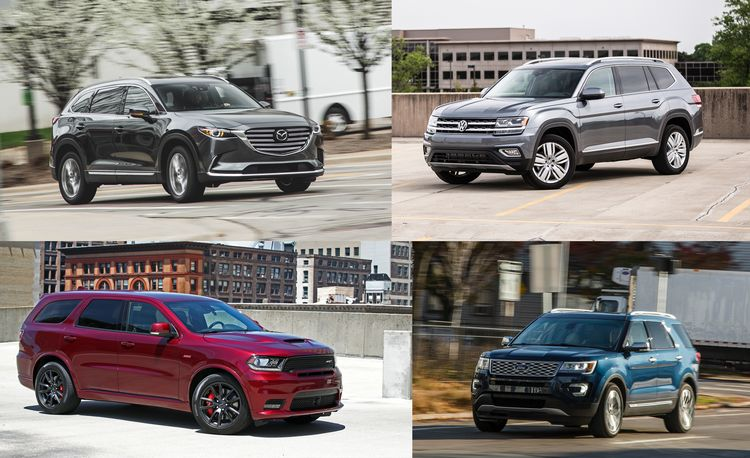 Triplicate: Three-Row Mid-Size Crossovers and SUVs Ranked from Worst to Best