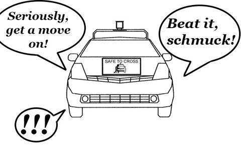Google Patents Autonomous-Car-to-Pedestrian Communication