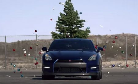 Nissan GT-R: The Perfect Tool for Taking Down the Christmas Tree?